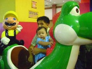 Rexelle, Yoshi, Mario and me
